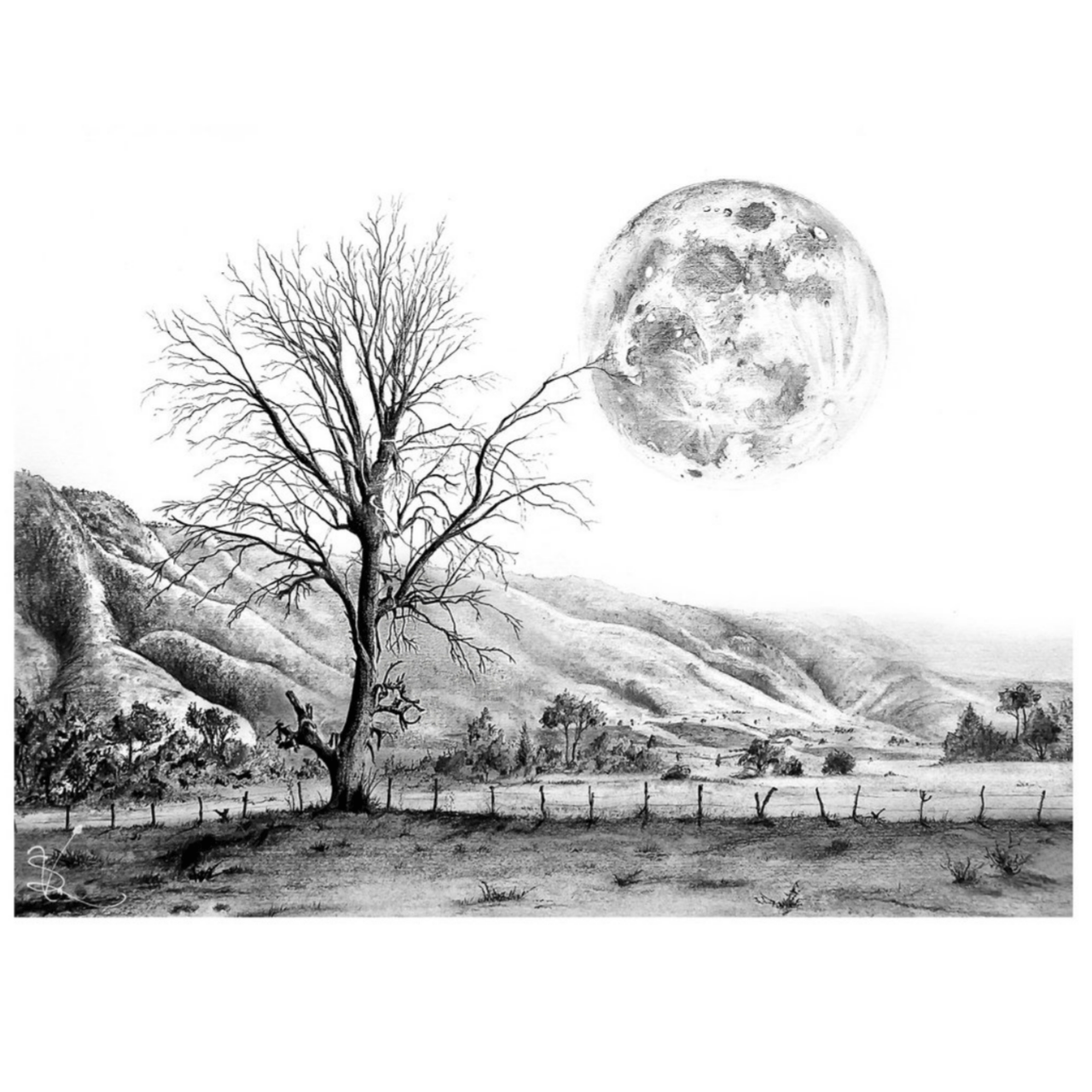 Landscape Of The Beautiful Pencil Sketch Steemit