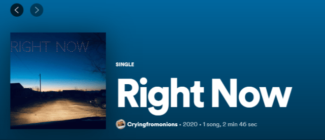 Follow CryingFromOnions Now on Spotify