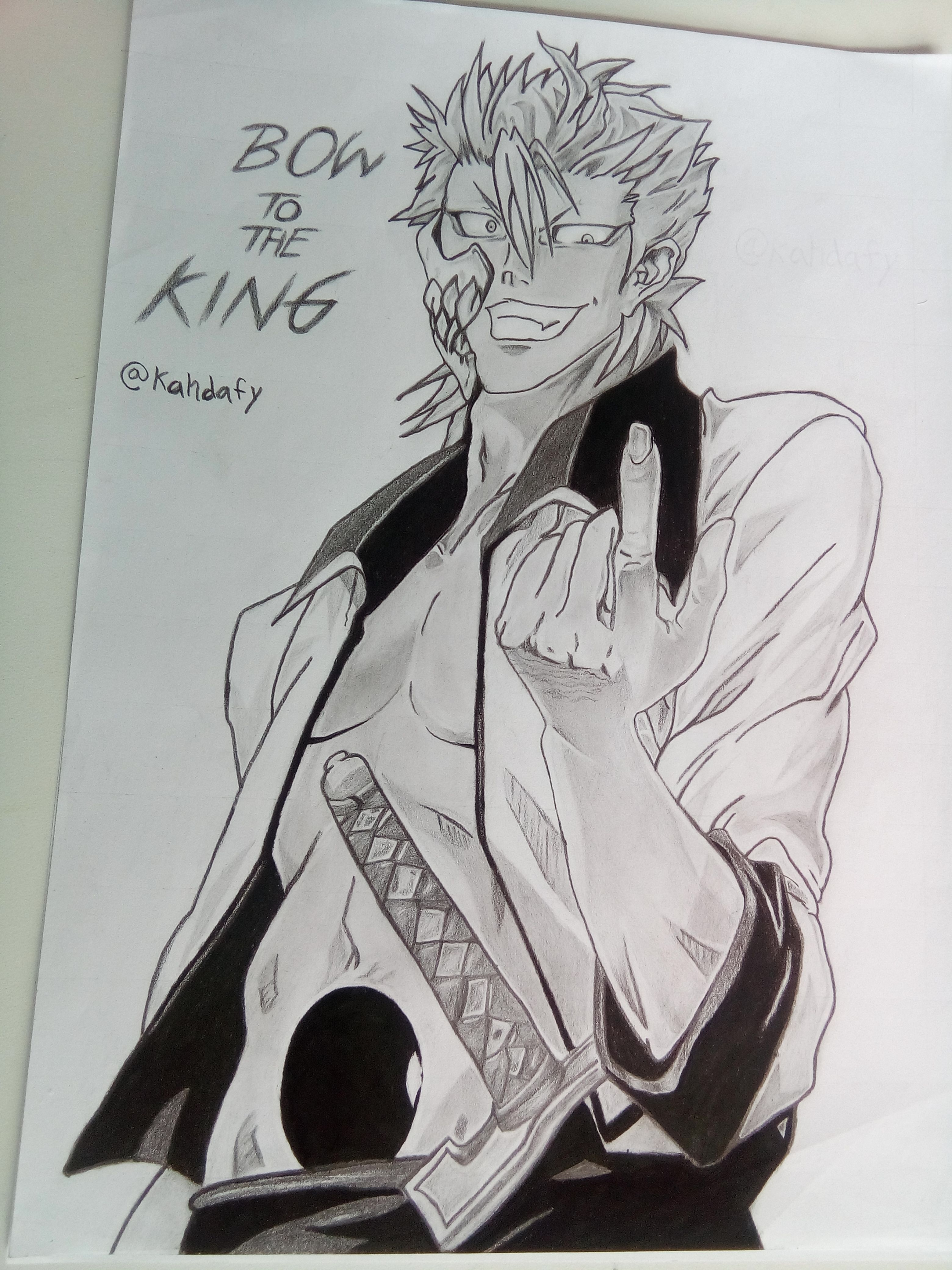 anime character drawing challenge -- grimmjow jaegerjaquez of bleach