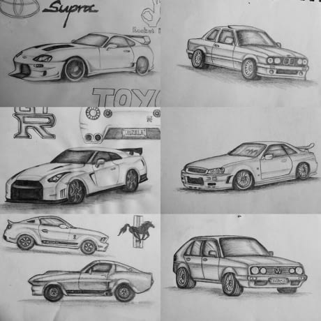 Car drawings for you (I know, they're wobbly, it's hard) — Steemit