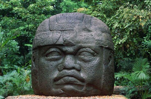 The stone heads of Olmecs