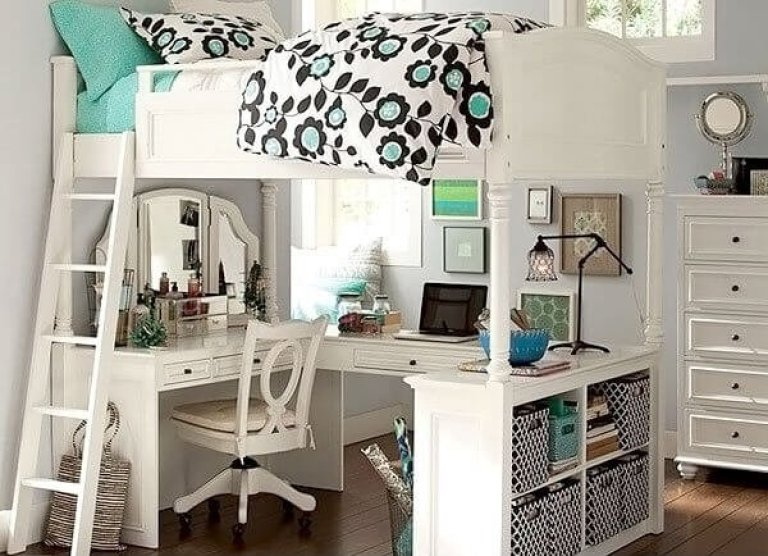 Fashionable teenage bedroom ideas for small rooms