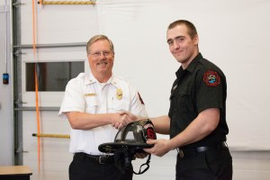 Left to Right: Deputy Chief Mike Holzmueller, Engineer James Johnstone