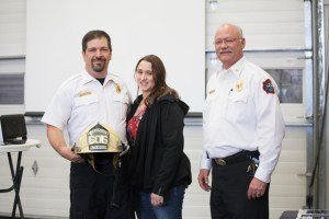 Battalion Andrew Rossow, Valerie Rossow & Chief Mitch Flynn
