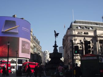 Am Piccadilly Circus.