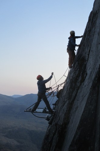 The first 2 day ascent of 'Clash of the Titans'