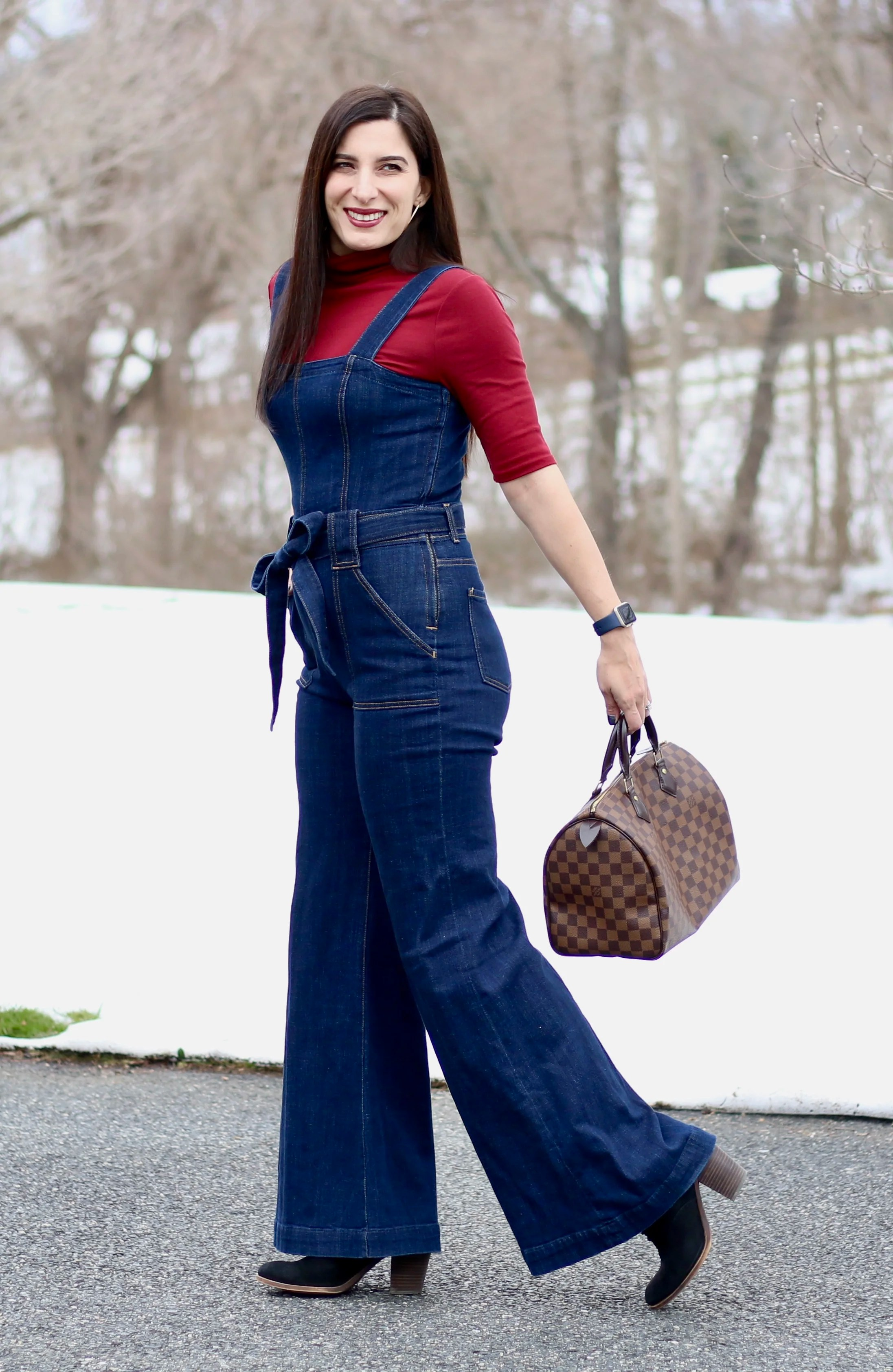 7 For All Mankind Palazzo Denim Jumpsuit