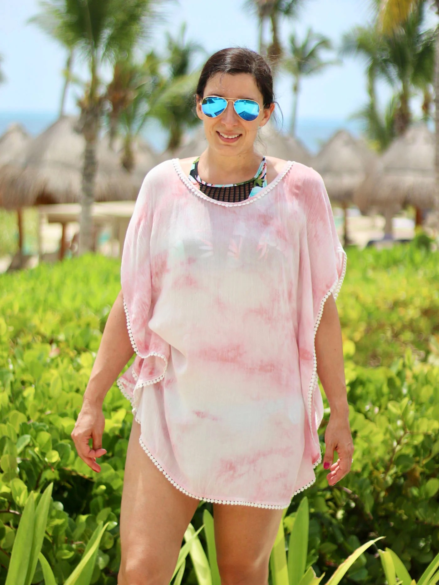 Tie Dye Coverup, Scoop Back