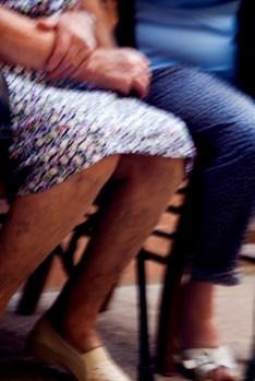 Old woman's veiny legs