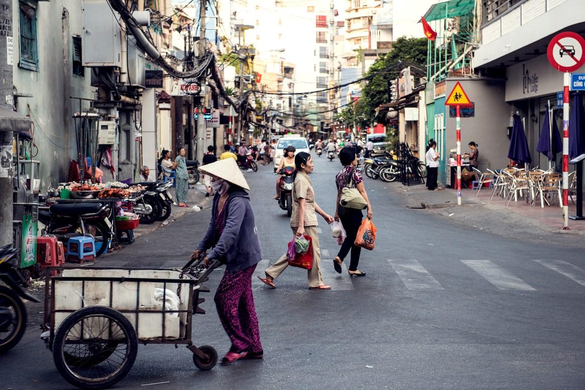 Ho Chi Minh city street scene, Vietnam