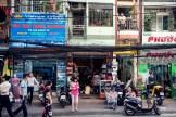 Busy street scene in Ho Chi Minh City