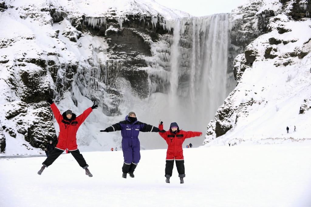 Beautiful waterfall in Iceland