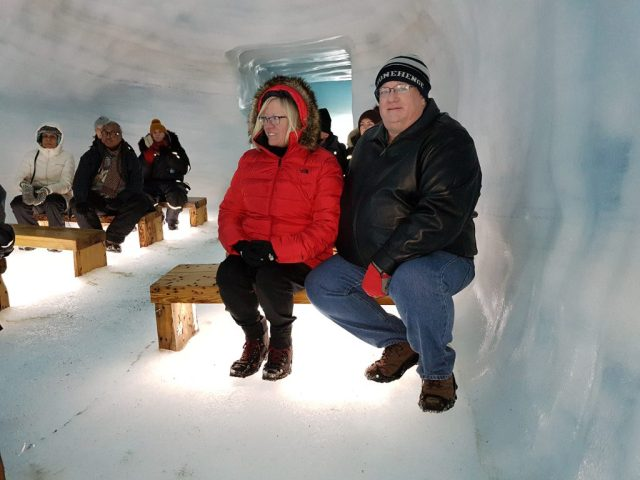 Man-made Ice tunnel in Iceland