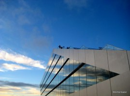 Dockland Building Cloud Reflection