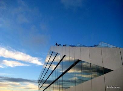 Dockland Building Cloud Reflection