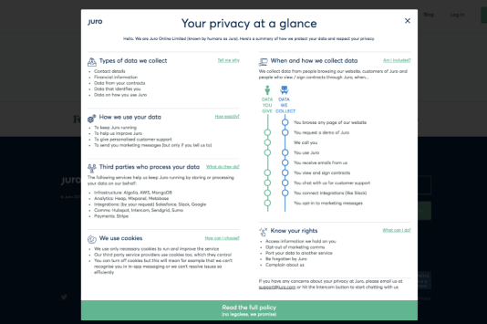 Juro short privacy notice