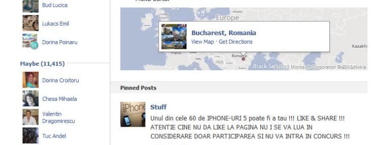 Concurs pe Facebook cu premii Iphone – Pacaleala la LIKE
