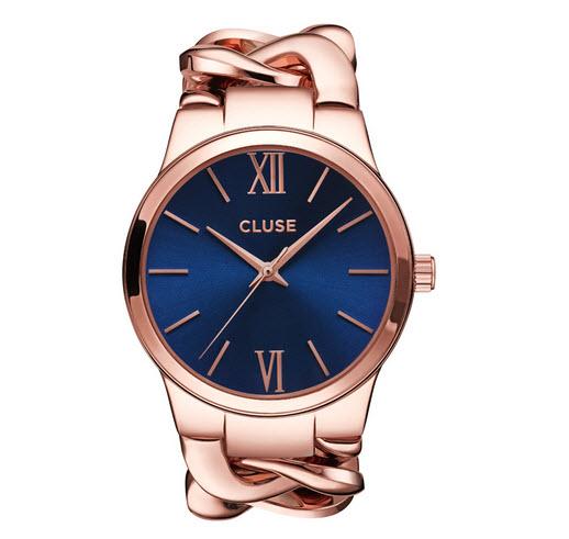 Ceas Cluse Elegante CL10501 auriu cu cadran albastru