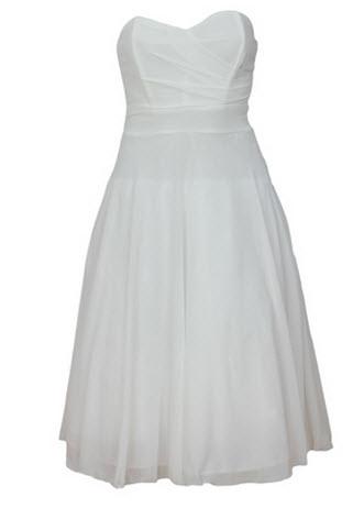 rochii albe vara de firma TFNC London modelul MATHILDA WHITE