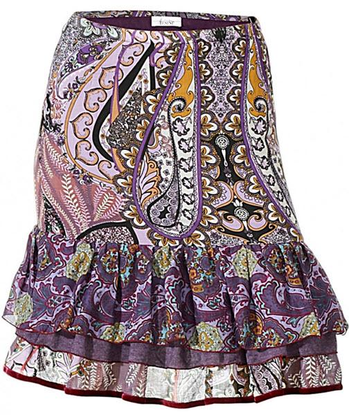 fusta Linea Tesini cu imprimeu accentuat