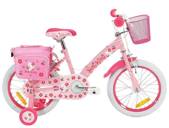 bicicleta roz fetite Bicicleta Hello Kitty 16 inch