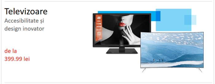 reduceri la televizoare preturi de la 399 lei la emag