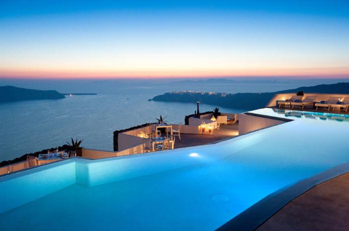 grace santorini hotel vedere piscina