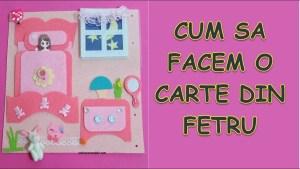 Carte fetru copii - Cum sa faci o pagina din fetru pentru dormitorul papusii