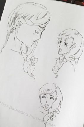 """""""Zelda"""" Übung Gesichtsausdrücke aus einem Wettbewerbsprojekt"""