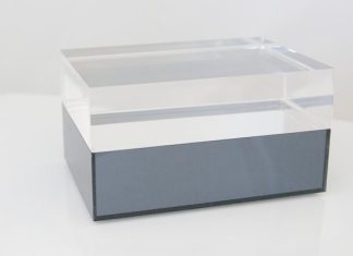 MIDNIGHT SWIM MIRRRORED ACRYLIC JEWELRY BOX
