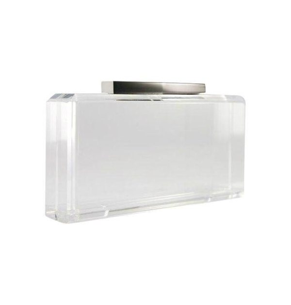 Satine Clear Acrylic Clutch