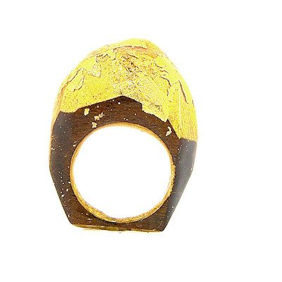 New Frontier Rosewood And Gold Ring 9