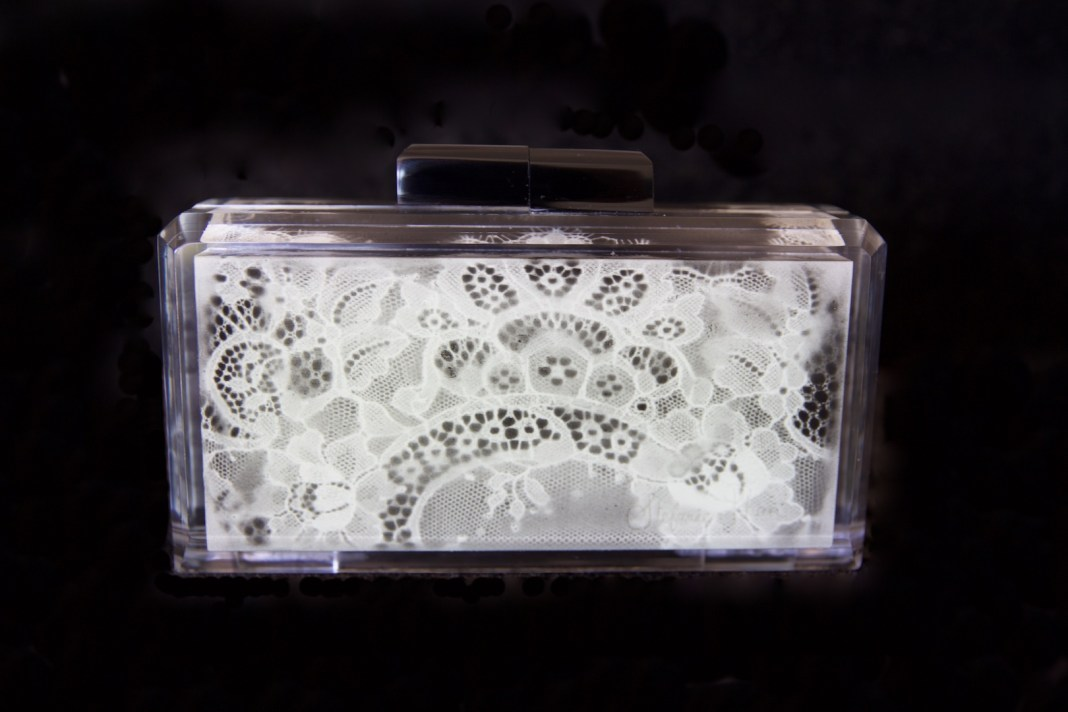 Stefanie Phan glow in the dark acrylic clutch purse