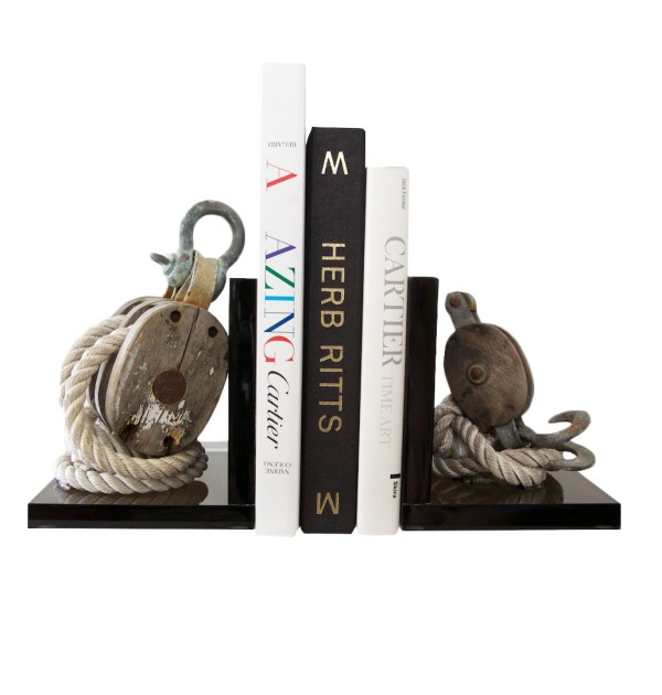 Yacht Club Vintage Nautical Book Ends