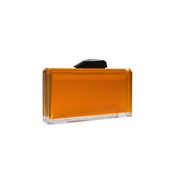 Lollipop Acrylic Clutch in Mango Tango Orange-1