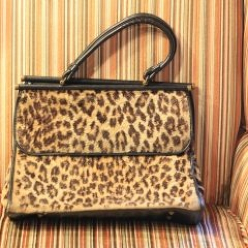 """I love this vintage (of course!) leopard print bag. I saw it, fell in love and my best friend went back and bought it for me."""