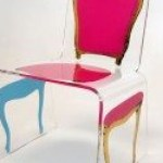 """So this chair is how I met my husband, Mr. Aaron R. Thomas. When I was an editor at Riviera magazine I found this chair at a gallery and asked who made it. We met at the photo shoot for the magazine story. It's still one of my favorite pieces—A modern Pop Art-inspired interpretation of the classic French Louis Chair, handmade and hand painted."" From $2,715.75 with the 15% discount."