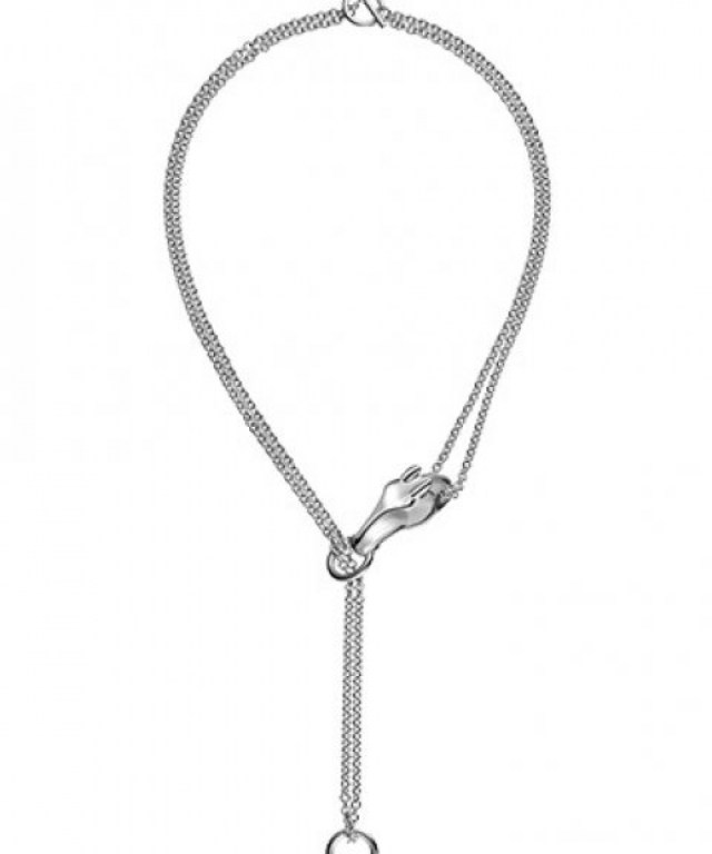 For those of us that can't get to Harrods in London, Hermès has a Galop Collection necklace in silver available online, $1,325.00. Click here to buy.