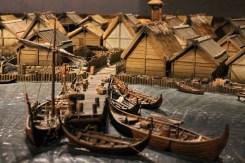 Recreation of a Viking town on the island of Birka on Lake Malären
