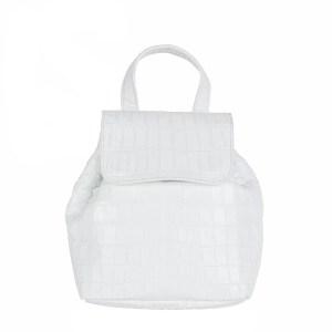 Petite Croc Backpack White