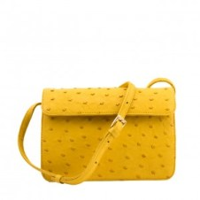 Ostrich Handbag Yellow 1