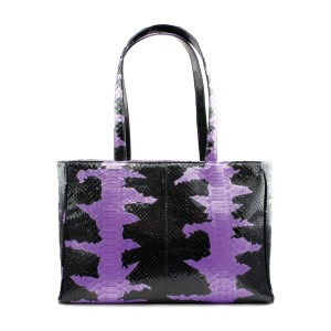 Glam Python Tote – Purple