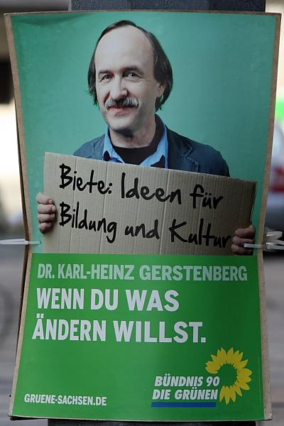 Wahlplakat mit Karl-Heinz Gerstenberg
