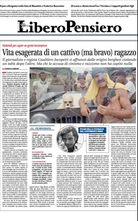 Libero Quotidiano, 9 marzo 2014