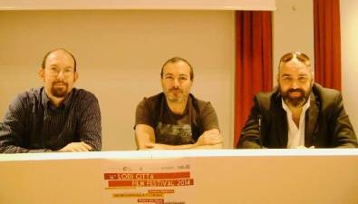Con Fabrizio Fogliato e Fabio Francione, Lodi Film Festival, 2014