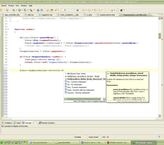 Cakephp, code insight anche nelle viste in zend studio e altre IDE