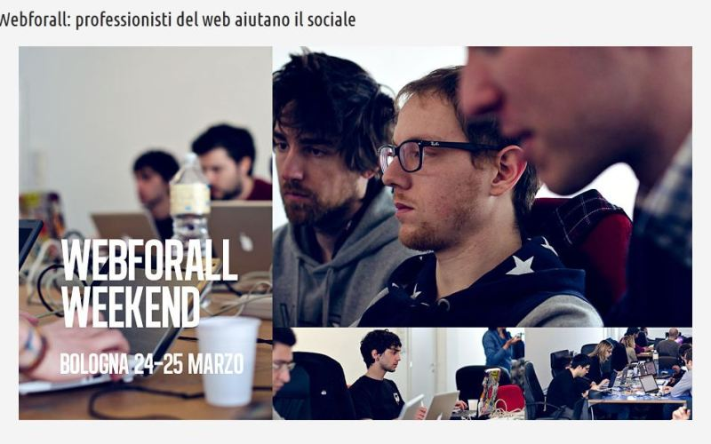 Webforall weekend, una bella iniziativa