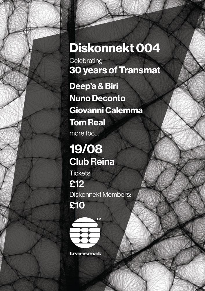 diskonnekt 004 poster and flyer - back