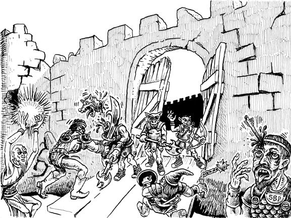 Castle Ortrar: Guarded by orcs wearing Converse All-Stars Hi-Tops.