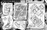 cheating Death map with text